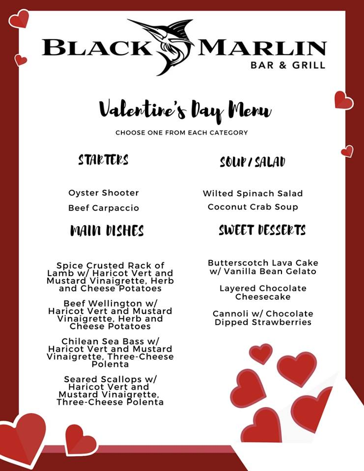 Valentine S Dinner At Black Marlin Palmilla Beach