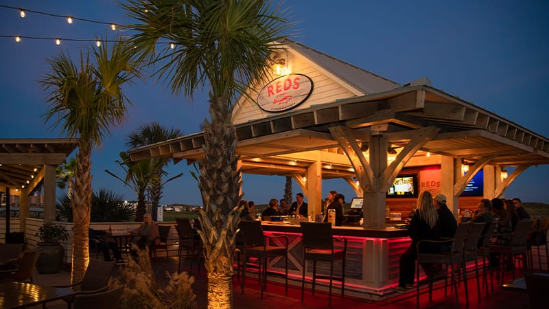 REDs Patio Bar Outside Of The Black Marlin Restaurant In Port Aransas Texas At Palmilla Beach Resort
